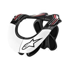 ALPINESTARS BIONIC NECK SUPPORT (BNS) PRO 2017: BLACK/WHITE/RED L/XL