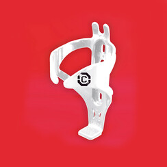 CLARKS POLYCARBONATE BOTTLE CAGE W/BOLTS WHITE: