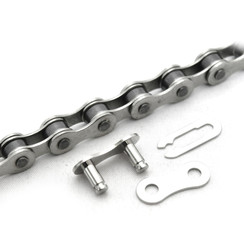 CLARKS SINGLE SPEED ANTI-RUST CHAIN 1/2X1/8 X112 LINKS SPRING CLIP INC.:  SINGLE SPEED